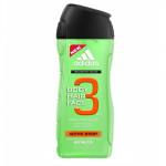 Adidas 3in1 Active Start Shower Gel Body & Hair 400 ml (uomo)